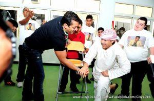 Salman Khan at rashid paediatric therapy center 1
