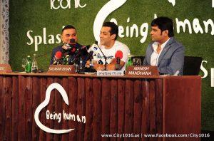 Salman Khan with Raza Beig at Being Human Event