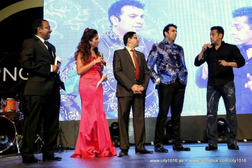 Rohit Jayakaran with Salman Khan