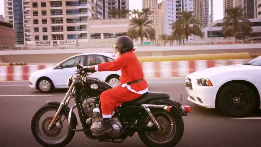 Rohit Jayakaran as Santa on a Harley 2